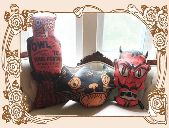 Vintage Halloween Trio Pillows