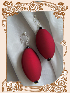 Red Lantern Earrings