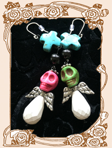 Dia de los Muertos Darling Earrings (White Set)